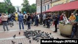 Акция в поддержку хабаровчан в Петребурге