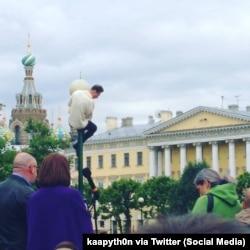 Мужчына, які выступаў за «мост Кадырава» падчас мітынгу