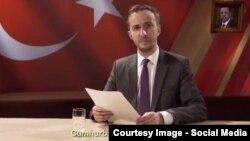 Реджеп Эрдоган (на портрете) и его обидчик Ян Бёмерман