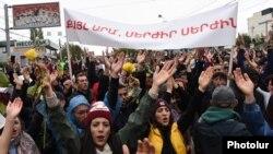 Протесты в Ереване (архив)