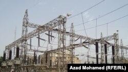 احدى محطات الكهرباء في كوردستان