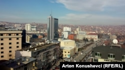 Kosovo - Kosovo's capital Prishtina, general view, December 9, 2013.