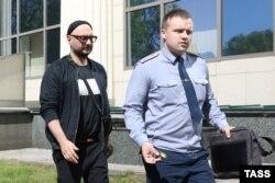 Кирилл Серебренников покидает Мосгорсуд, май 2018 года