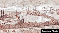 Бахчисарай. Рисунок с гравюры XVII века