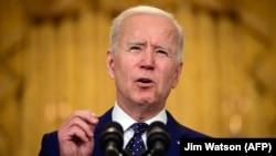 ԱՄՆ - Նախագահ Ջո Բայդենը Սպիտակ տանը ելույթ է ունենում Ռուսաստանի նկատմամբ Միացյալ Նահանգների քաղաքականության վերաբերյալ, Վաշինգտոն, 15-ը ապրիլի, 2021թ․