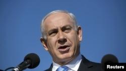 Իսրայել - Վարչապետ Բենյամին Նաթանյահուն ելույթ է ունենում Երուսաղեմում, հունվար, 2013թ.