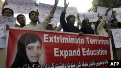 Акции протеста в Пакистане против нападения на Малалу Юсафзай. Кетта, 11 октября 2012 года.