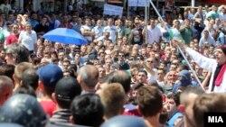 Протестите против случјаот Монструм во Скопје.