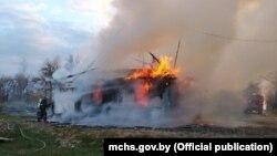 Фота з пажару 28 красавіка