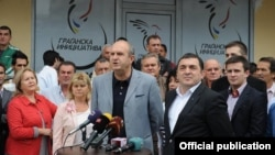 Љупчо Зиков, претседател на граѓанска Иницијатива - Алијанса за позитивна Македонија и Владо Бучковски, член на иницијативата.