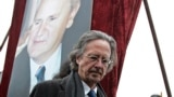 SERBIA - Peter Handke is seen before his speach at the rally just before the funeral of late Serbian leader Slobodan Milosevic,in his native town of Pozarevac, Saturday, March 18 2006