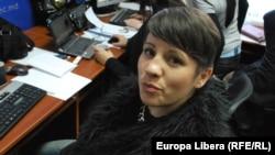 Liliana Barbăroșie la Centrul de presă al CEC-ului