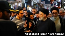 Head of Iran's Judiciary Ebrahim Raeesi, visiting Tabriz Grand Bazar during his trip to Tabriz, East Azarbaijan province, on October 31, 2019.