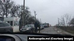 """Unul din posturile """"vamale"""" ale regimului de la Tiraspol în raionul Dubăsari. 24.12.2019"""