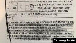 Телеграма Зінаїди Григоренко генеральному прокурору СРСР Роману Руденку