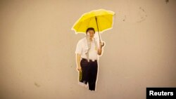 Граффити с изображением Си Цзиньпина под зонтом появилось недавно в Гонконге