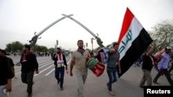 هواداران مقتدی صدر در حال ترک منطقه سبز بغداد