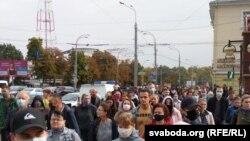 Акція протесту в Білорусі, Гомель, 27 вересня 2020 року