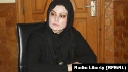 Ауғанстан парламентінің бұрынғы мүшесі, құқық қорғаушы Нурзия Атмар. Кабул, 17 шілде 2013 жыл.
