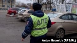 Задержание группы украинских журналистов сотрудниками полиции РФ, фото – Антон Наумлюк, Радио Свобода