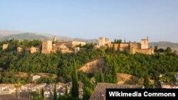 Ispaniýanyň Granada şäherindäki Alhambra köşgi.