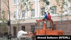 Нохчийчоь - Соьлж-гIалин Толаман цIе лелийначу, хIинца Путинан цIарахчу урамехь белхаш беш болу гIишлошъярхой, 20Сти2010