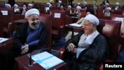 Хасан Роугани и Акбар Хашеми Рафсанджани