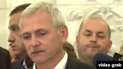 Liviu Dragnea după ședința comitetului executiv PSD; București, 22 iunie 2018