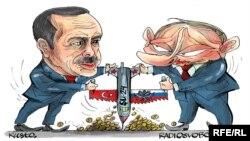 Erdogan və Putin barışdı (Karikatura)