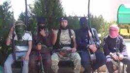 Скриншот видеоролика таджикских боевиков, воюющих в Сирии на стороне ИГ.
