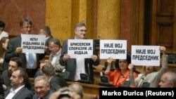 Protest opozicije u Skupštini Srbije
