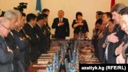 Бишкек шаардык кеңешинин азыркы депутаттары.