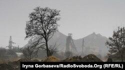 """Отработанная порода рядом с одной из шахт в """"ДНР"""""""