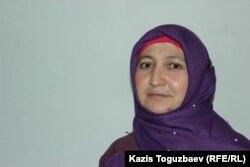 Жанна Умирова, свидетель в Илийском районном суде по делу о насилии в отношении заключенной женщины-трансгендера. Поселок Отеген батыра Алматинской области, 6 марта 2020 года.