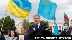 Petro Poroshenko (ortada), 18 may, 2020-ci il