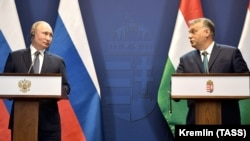 Premierul ungar Viktor Orban şi liderul de la Kremlin Vladimir Putin. Budapesta, 30 octombrie 2019