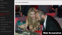 Uzbekistan - Turkish movie star Haled Ergench attend Gulnara Karimova's fashion week, screenshot from Sayyod.com
