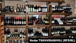 ქართული ღვინოების ერთ-ერთი მაღაზია თბილისში