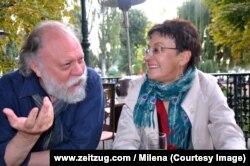 Ігар Памяранцаў і Аксана Забужка