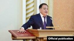 Новый аким Мангистауской области Ералы Тугжанов, бывший заместитель председателя Ассамблеи народа Казахстана. Актау, 14 марта 2017 года.