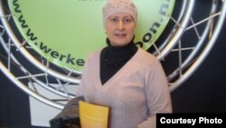 Каміла Стайн на міжнародным бізнэс-кірмашы ў Нідэрляндах