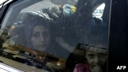Сирийская семья, прибывшая в Ливан