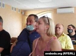На першай лаве жонка Віталія Навумік і бацька Ўладзімера