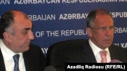 Ադրբեջանի և Ռուսաստանի արտգործնախարարները համատեղ մամուլի ասուլիսի ժամանակ, արխիվ