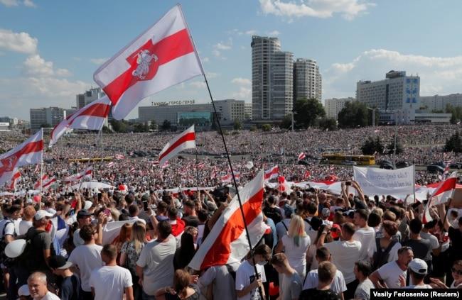 Менск, 16 жніўня 2020 году