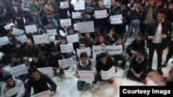 Təbriz Universitetində azərbaycanlıların etiraz aksiyası, 10 noyabr 2015