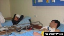 Armenia -- Opposition youths attacked by unknown men on December 27, 2009 recover from injuries in hospital. (Photo courtesy of A1plus.am)