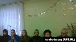 Уладзімер Халіп (зправа) і Ала Саньнікава