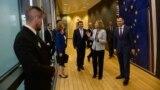 Архивска фотографија - Заев во посета на Брисел.