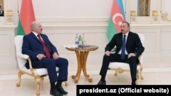 Presidents Ilham Aliyev and President Alexander Lukashenko meet in Baku, 28nov2016
